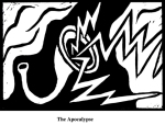 The Apocalypse (2004). Block print. Appeared in Lorena Stookey (2004), 'Thematic Guide to World Mythology', Greenwood Press, Westport, Connecticut.