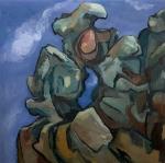 """Basalt - Angel's Rest (2007). 48"""" x 48"""". Oil on panel."""