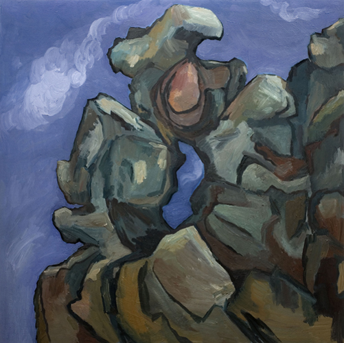 "Basalt - Angel's Rest (2007). 48"" x 48"". Oil on panel."