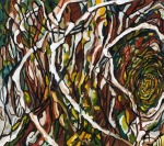 "Bones in the Forest (2009). 31"" x 35"". Oil on canvas."