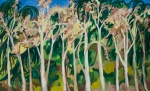 "Budding Alders (2007). 36"" x 60"". Oil on canvas."