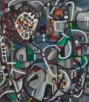 "Counterpane 3 (2012). 60"" x 52"". Oil on canvas."