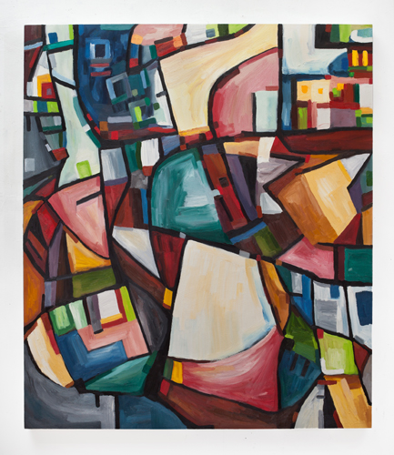 "Counterpane (2012). 60"" x 52"". Oil on canvas."