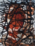 "Daemon (2008). 47"" x 36"". Oil stick on paper."