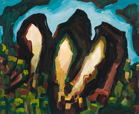 "Devil's Rest (2009). 28"" x 34"". Oil on canvas."