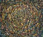 "Nest (2009). 42"" x 48"". Oil on canvas."