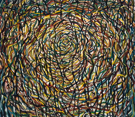 "Nest (2009). 42"" x 48"". Oil on canvas."