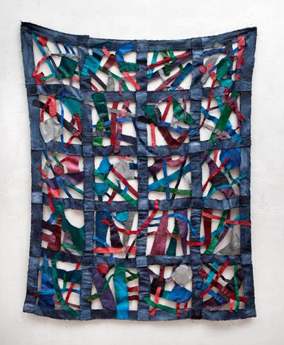 "Quadrangle 7 (2012). 60"" x 48"". Oil on canvas."