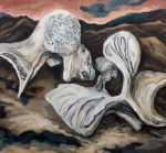 "Showdown (2007). 33"" x 36"". Oil on canvas."