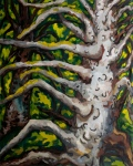 "Sitka Spruce (2007). 72"" x 48"". Oil on panel."