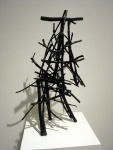 Structure 1 (2013). Sticks, wire, acrylic paint.