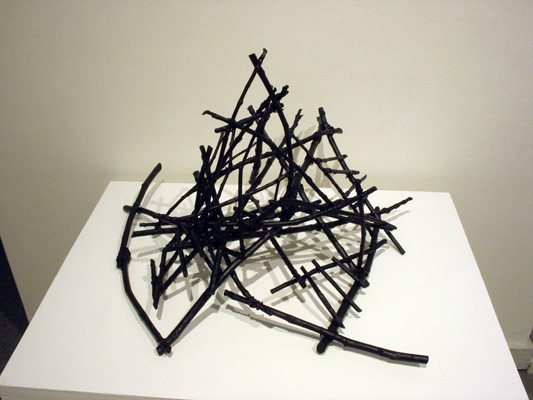 Structure 3 (2013). Sticks, wire, acrylic paint.