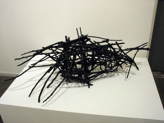 Structure 5 (2013). Sticks, wire, acrylic paint.