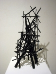 Structure 6 (2013). Sticks, wire, acrylic paint.