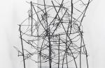 Styx (2011): installation view. Sticks, wire, acrylic paint.