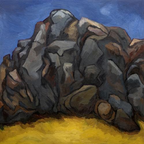 """Tufa - Fort Rock (2007). 48"""" x 48"""". Oil on panel."""