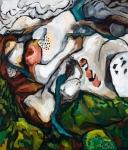 """Tundraskriden (2009). 52"""" x 60"""". Oil on canvas."""