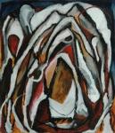 """Ymir (2006). 40"""" x 32"""". Oil stick on paper."""