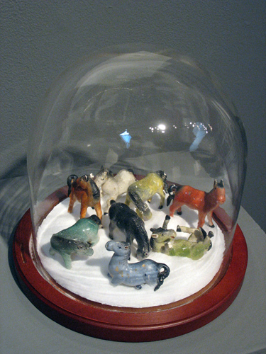 Blizzard (2007). Glass, ceramic, and wood.