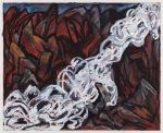 "Bretz Flood (2006). 24"" x 32"". Oil stick on paper."