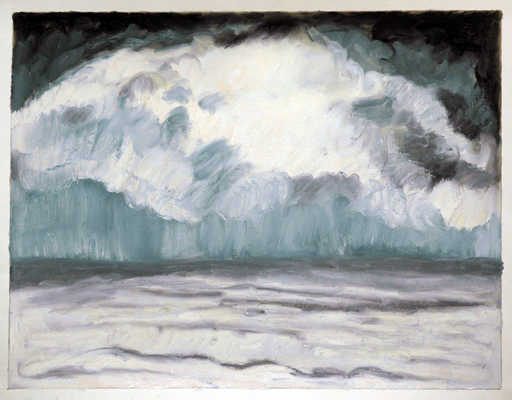 "Pacific (2006). 17"" x 22"". Oil stick on paper."