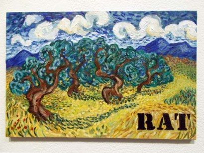 "RAT (2014). 8"" x 12"". Oil on panel."