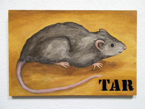 "TAR (2014). 8"" x 12"". Oil on panel."