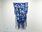 """Am I Blue Two? (2014). 83"""" x 42"""" x 5"""". Oil on canvas."""