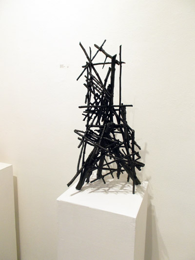 Structure 6 (2013) - October 2014 installation view. Sticks, wire, acrylic paint.