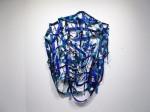 """Topkapi Blue (2014). 64"""" x 46"""" x 6"""". Oil on canvas."""