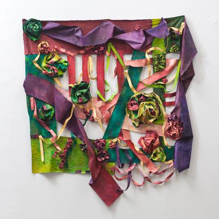 "Semblance (2016). 56"" x 52"" x 6"". Oil on canvas."